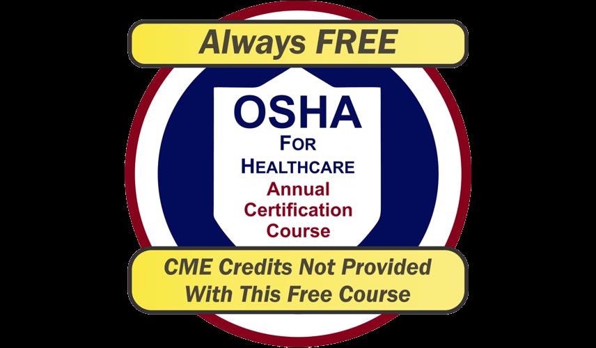 OSHA For Healthcare Annual Certification Course